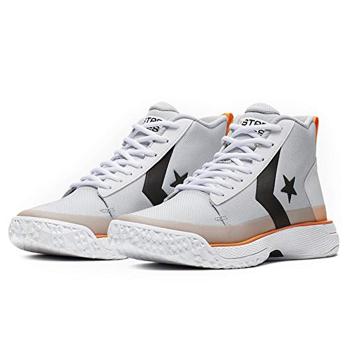 Converse Men's Star Series BB Basketball Shoes (Pure Platinum/Bold Mandarin, Numeric_10)