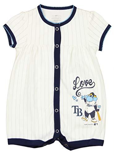 OuterStuff MLB Tampa Bay Rays Newborn & Infants Love Baseball Creeper (18 Months)