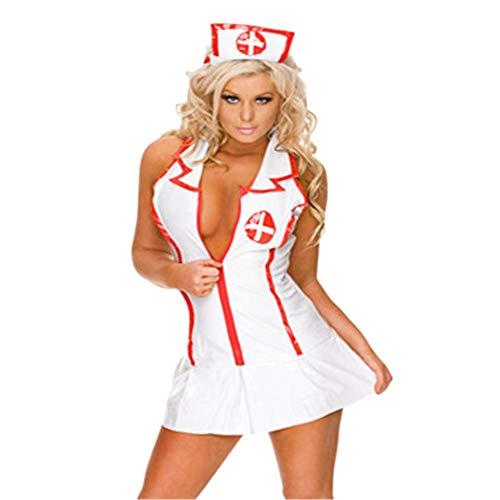 Jaysis Lingerie Infirmiere Sexy Femme Lingerie Sexy Femme Coquine Costume Infirmiere Femme Cosplay Nurse Costumes Erotique Seduction Ouverte Soubrette Costume Infirmière Deguisement Sexy Femme