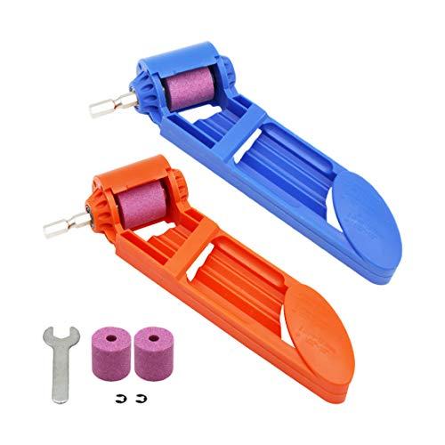 """CZS - Afilador de brocas de diamante portátil para afilar la herramienta de corindón para brocas a base de hierro, rango de ancho de 5/64""""-1/2"""" (0.079-0.492in), con rueda de molienda y llave extra de corindón"""