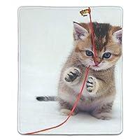 ゲーミング向け 大型マウスパッド デスクマット子猫 防水材質 水で洗えるマウスパッド