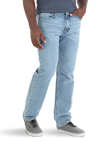 Wrangler Authentics Men's Classic 5-Pocket Relaxed Fit Jean, Stonewash Flex, 36W x 29L