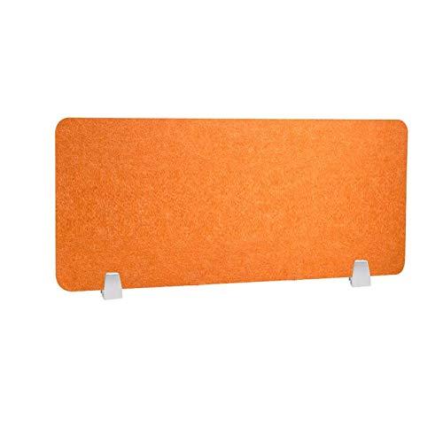HEFUTE Büro Trennwand Datenschutz-Panel Schreibtischteiler mit 2 Klemmen Bildschirm Büro Schule Zubehör für Studenten 40 x 80cm Orange