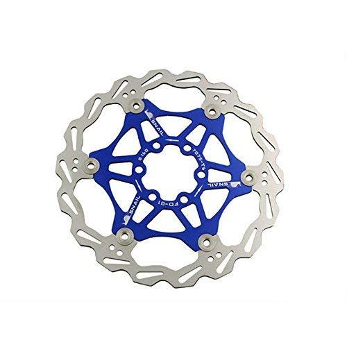 Snail Bicicleta Bicicleta Disco Freno Rotor Flotante MTB Rotores 180mm (Azul)