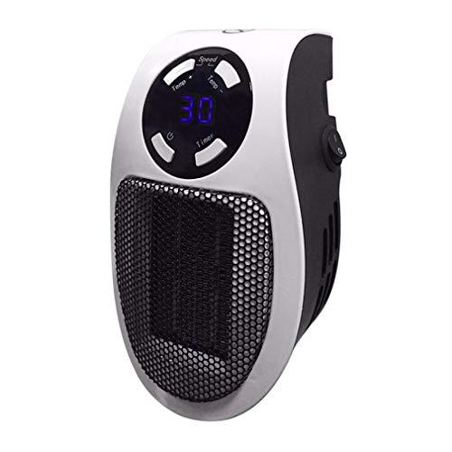 Riiai Mini calentador de aire eléctrico de salida de pared, potente ventilador caliente, ventilador de calentamiento rápido, calentador de estufa radiador calentador de habitación para oficina en casa