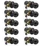 10 Pack Probrico Interior Bathroom Privacy Keyless Doorknobs Door Lock Lockset 607-ORB-BK in Oil Rubbed Bronze