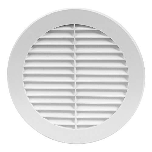 Griglia di ventilazione bianca, diametro 150 mm, protezione dagli insetti, rotonda, flangia