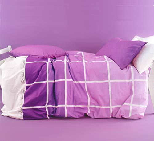Bassetti Parure Copripiumino Matrimoniale 250X200+40 Art. P340 Variante Radiant Orchid escluso sotto angolare + tavoletta Profumo Biancheria per armadi by biancocasa