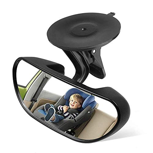Backseat Mirror Baby Mirror for Car Rear View Mirror Car Seat Mirror for Infant toddler with 360 Degree Adjustable Strengthen Suction Cup small