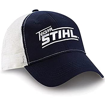 Stihl Officially Licensed Navy & White Mesh Team Velcro Back Cap