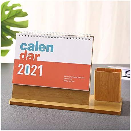 Bureaukalenders 2021 KalenderMaandelijks bureaukalender met datum Multifunctionele Opbergen Decoratie Met Pen Holder Perfect for Planning for thuis of op kantoor Bureauwandkalender