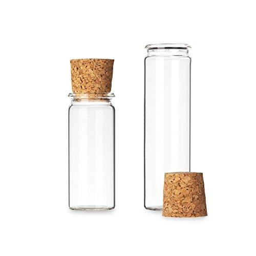 Tuuters 25 reageerbuisjes van laboratoriumglas met kurk | rolrand ✓ glazen flesjes voor gastgeschenken ✓, 20ml - 75 x Ø 24mm, 1