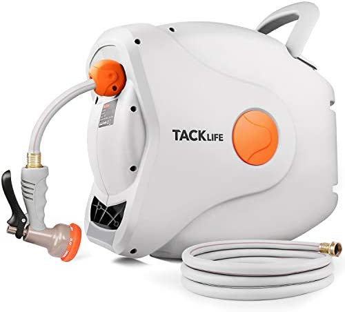 TACKLIFE Retractable Garden Hose Reel 5 8 82ft 8ft Any Length Lock Slow Return System 8 Function product image