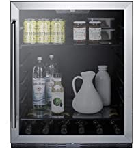 """Summit AL57GCSS 24"""" ADA Compliant Commercial Compact Refrigerator with 4.8 cu. ft. Capacity Door Lock Frost Free Operation Door and Temperature Alarm in Stainless"""