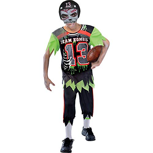 Suit Yourself Zombie Football Player Halloween Costume for Boys, Large, with Mask