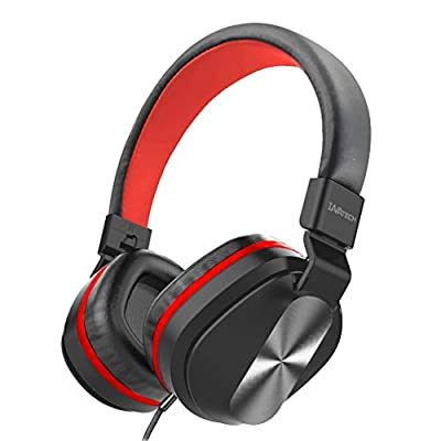 Stereo Headphones Wired, IAVATECH HiFi On Ear Headphone Lightweight Foldable Headphones with microphone 3.5mm Earphone for Smartphones Computer PC Tablet from IAVATECH