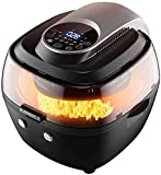 ★ THE ONLY PRODUCT YOU'LL NEED : This versatile product functions as an air fryer, rotisserie oven and dehydrator, perfect for nearly any cooking task,Make better-for-you fries that are just as crispy and tasty, roast a whole chicken. ★ HEALTHY MEAL ...