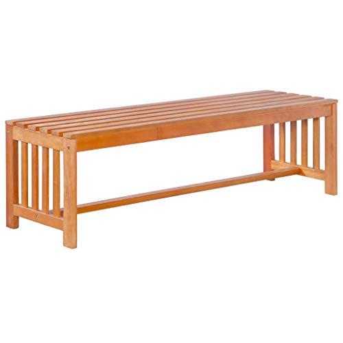 Festnight- Holz Gartenbank 130cm 2-3 Sitzer   Sitzbank aus Massiveholz Eukalyptusholz Parkbank Bank...