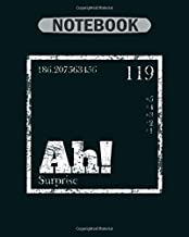 Notebook: science elements - 50 sheets, 100 pages - 8 x 10 inches
