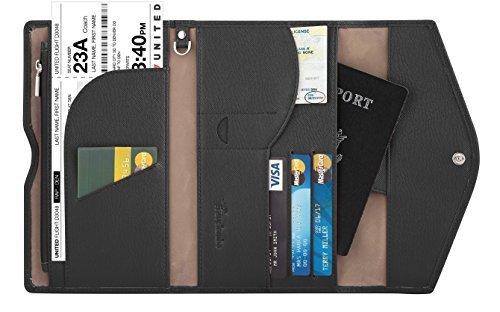 Travelambo Passport Holder Wallet & Travel Wallet Envelope (black)
