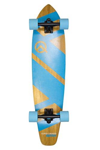 The Super Cruiser 36quot Remix Aqua Blue Bamboo and Maple Deck Longboard Skaeboard