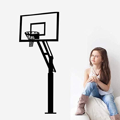 Etiqueta De La Pared Baloncesto Senior Baloncesto Soporte Calcomanía Diy Apliques Deportivos Decoración Infantil Decoración De Pared Desmontable 24Cm * 59Cm