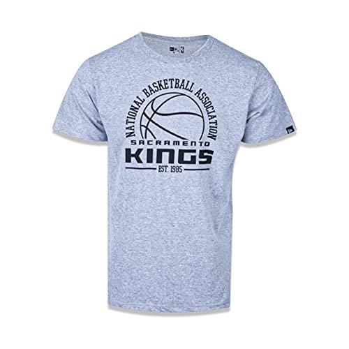 CAMISETA MANGA CURTA NBA NEW YORK KNICKS COLLEGE GAME BALL MESCLA CINZA New Era