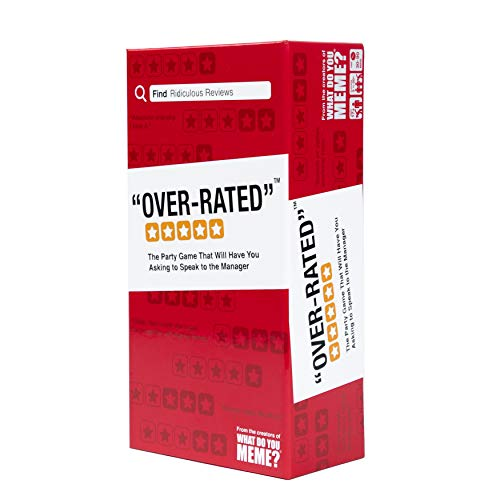 Over-Rated - The Adult Party Game Where You Compete to Review Absurd Locations - by What Do You...