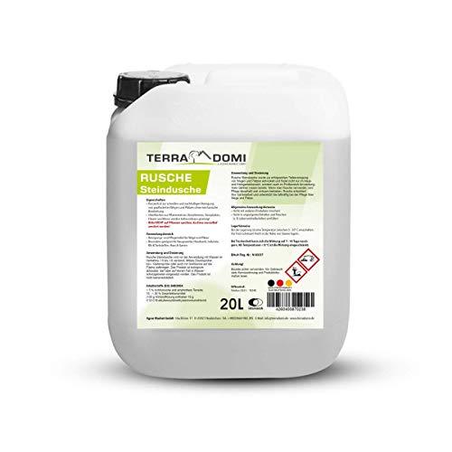 Terra Domi Rusche Steindusche, 20 L, Steinreiniger für bis zu 8000 m², Reinigungsmittel für saubere Wege & Plätze, Wegerein, biologisch abbaubar