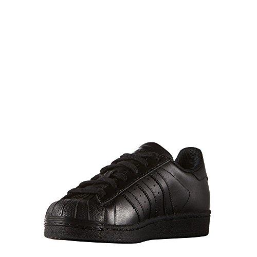 Adidas Originals Superstar Foundation, Baskets Basses mixte enfant, Noir (Core Black/core Black/core Black), 38 EU