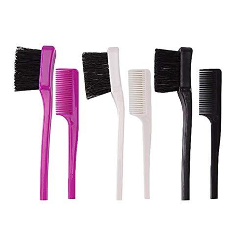 HEALIFTY 3pcs peigne brosse à sourcils double objectif outil de toilettage des sourcils tête double pour les femmes (noir, blanc, violet)