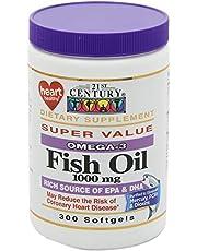 21st Century Fish Oil Omega-3 1000 Mg, 300 Softgels