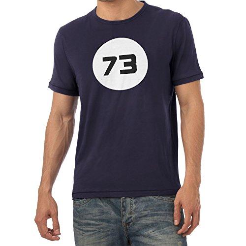 Texlab TBBT: The Best Number 73 - Herren T-Shirt, Größe XL, Navy