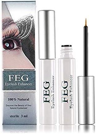 FEG Eyelash Enhancer Eye Lash Rapid Growth Serum Liquid 100% Original 3Ml (2 Pack)