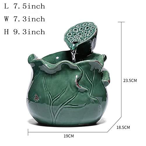 Skulpturen Keramik-brunnen,Fengshui innendekoration Wasserbrunnenbefeuchter Tischdekoration mit brunnen F 鞥 s Wird Bonsai füllen Wasserlandschaft brunnen-Innendekorationen 9.3Zoll