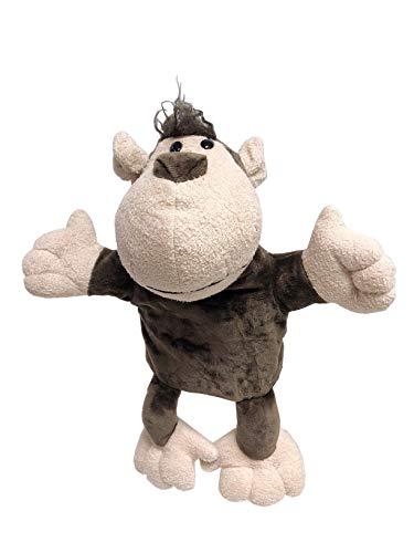 JSQ Marioneta de mano de animales de vida silvestre súper suave de peluche para niños de juguete británico (mono marioneta)