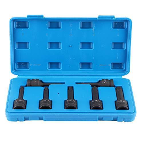 KIMISS 7Pcs/Set 1/2in 12,5 mm Schraubenabzugssatz, Vierkantkopf Beschädigter Schraubenabzieher Schraubengewinde Schlupf gebrochener Bolzen Easy Out Remover Tool