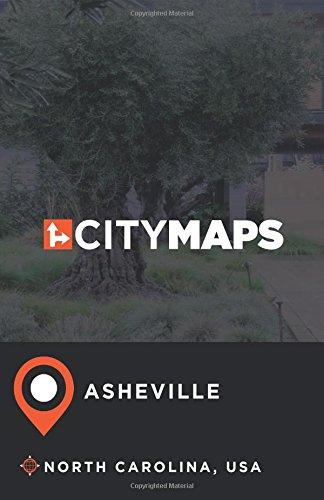 City Maps Asheville North Carolina, USA