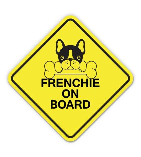 AK Wall Art Frenchie on Board French Bulldog Vinyl Sticker - Car Window Bumper Laptop - Select Size
