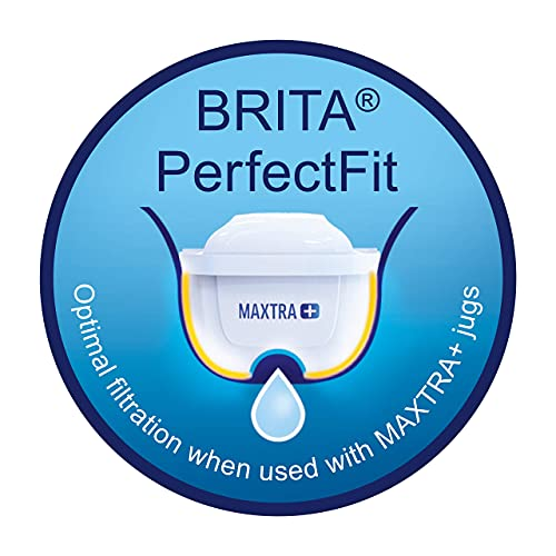 BRITA MAXTRA + Replacement Water Filter Cartridges , Compatible with all BRITA Jugs - Reduce Chlorine , Limescale and Impurities for Great Taste - Pack of 6