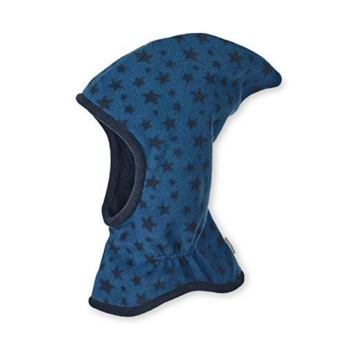 Sterntaler Schalmütze mit Zipfel und Sternen-Motiv, Wärmeschutz durch Thinsulate Insulation, Alter: 9-12 Monate, Größe: 47, Blau
