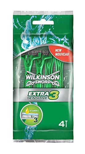 Wilkinson Sword Extra 3 Sensitive Herren Einwegrasierer , 4 + 2 St