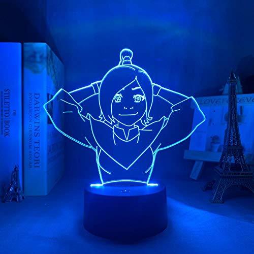 Luces exteriores decorativas Avatar Ty Lee 3D de acrílico LED, luz nocturna Avatar para niños, cojín de aire, decoración de habitación de los niños, luz nocturna de regalo DUYAO00