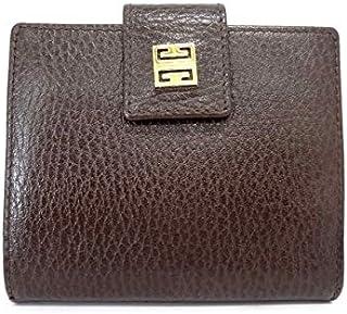 (ジバンシー)GIVENCHY 2つ折り財布 ダークブラウン×ゴールド 【中古】