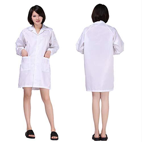 YZZ kleding, antistatisch, gestreept, lange mouwen, mantel, reverskraag, antistatisch, antistatisch, schone kleding