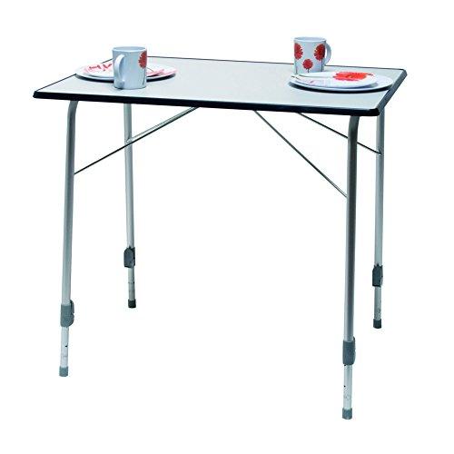 Reimo Sorrent 4 DeLuxe faltbarer Tisch (Einheitsgröße) (Weiß/Grau)