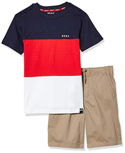 DKNY Boys' Shorts Set, triple stripe mouse, 4
