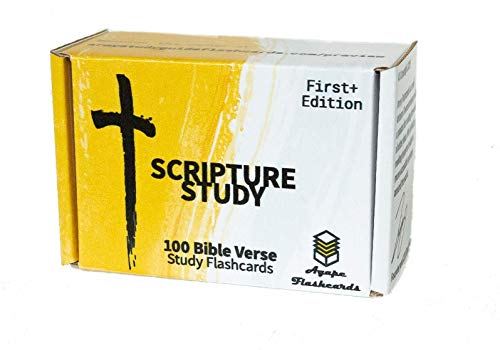 Agape Flashcards- Scripture Study Flashcards: 100 of The Most Important and Useful Bible Verses | Pack of 100 Bible Study Flashcards | Perfect for Memorizing Bible Verses | Made in USA | English