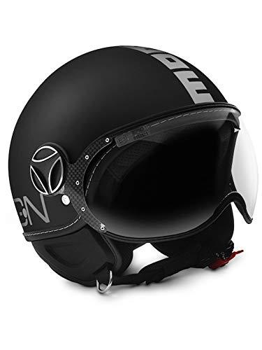 MOMO Design Classic Helm, mattschwarz - silber, Größe L 00800560, MO-00800560, Nero Opaco - Argento
