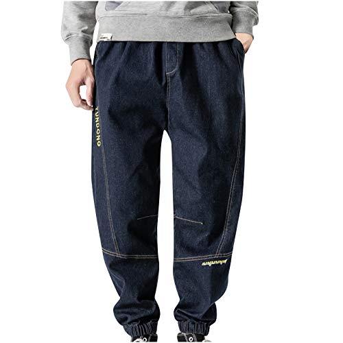 MOVERV Pantalones para Hombre Pantalones de Carga Elásticos Talla Grand Pantalón Harén Suelto Fitness Vaqueros Pantalones Caseros Casuales Deportivos de Pantalón Suelto Pantalones de Otoño e Invierno